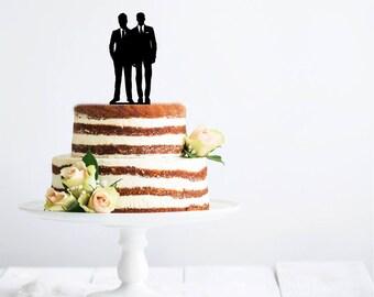 Two Grooms - Wedding Couple Cake Topper | Wedding Cake Topper | LGBT Cake Topper | Gay Wedding | Gay Wedding Cake