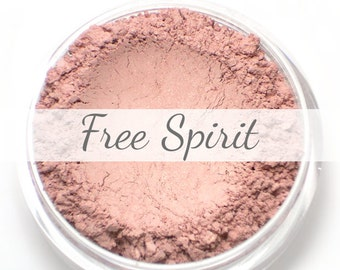 "Mineral Blush Sample - ""Free Spirit"" (soft baby pink cheek color with shimmer) - Vegan"