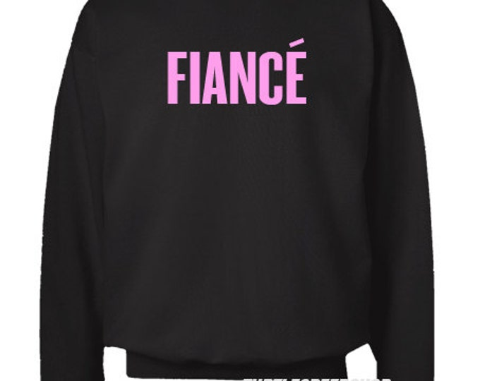 Fiance Black Crewneck Sweater Bride Flawless