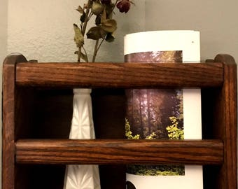 Solid Wood hanging shelf with beautiful redone shine