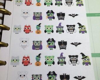 Halloween Owl Planner Stickers