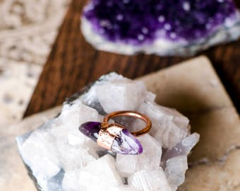 Amethyst Ring Size 6 3/4