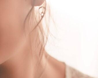 Winterbraut Ohrringe Herkimer Diamant Blatt Sterling Silber
