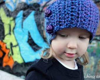 Headband Crochet Pattern:  With Leg Warmers, 'Variegated Graffiti', Kids Fashion