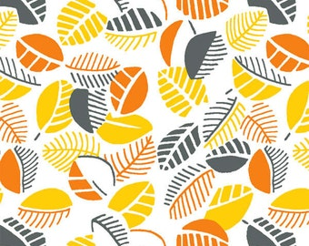 Sunflower Yellow Mimosa Leaves fabric from the Mimosa Collection by Another Point of View for Windham Fabrics #39984-2