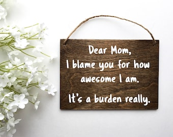 Gift From Daughter | Mother's Day Gifts | Gift Ideas For Mom | Gifts For Women 2017 | Gift For Mother | Rustic Home Decor | Farmhouse Decor