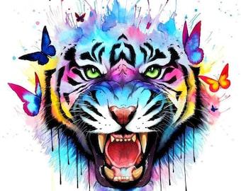 Tiger- Art print hand signed