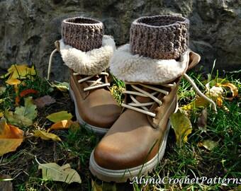Crochet Boot Cuffs Pattern- Crochet Pattern Boot Cuffs - Boot Cuffs Adult, Toddler, Baby, Child