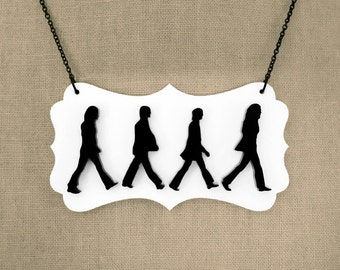 Abbey Road Necklace - The Beatles -  Acrylic Laser Cut Necklace (C.A.B. Fayre Original Design)