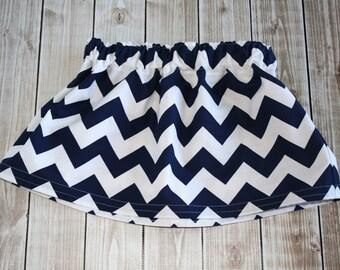 Chevron twirl skirt / Riley Blake Navy Chevron / Toddler Girl Skirt / Navy blue twirl skirt / Girls navy blue skirt / Toddler twirl skirt