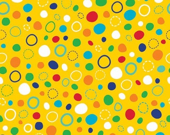 One Yard In The Ocean - Dots in Yellow - Cotton Quilt Fabric - Leslie Grainger for Riley Blake Designs - C4112-YELLOW (W2006)