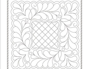 SQUARE quilting block machine embroidery download 4 diff sizes (8x8 7x7 6x6 5x5)