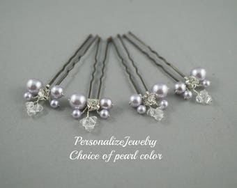 Bridal u pins clips, Wedding hair pins, Bridesmaid hair accessories, Pearl and crystal clips, Prom hair do, Curly up do clips, Pearl vines
