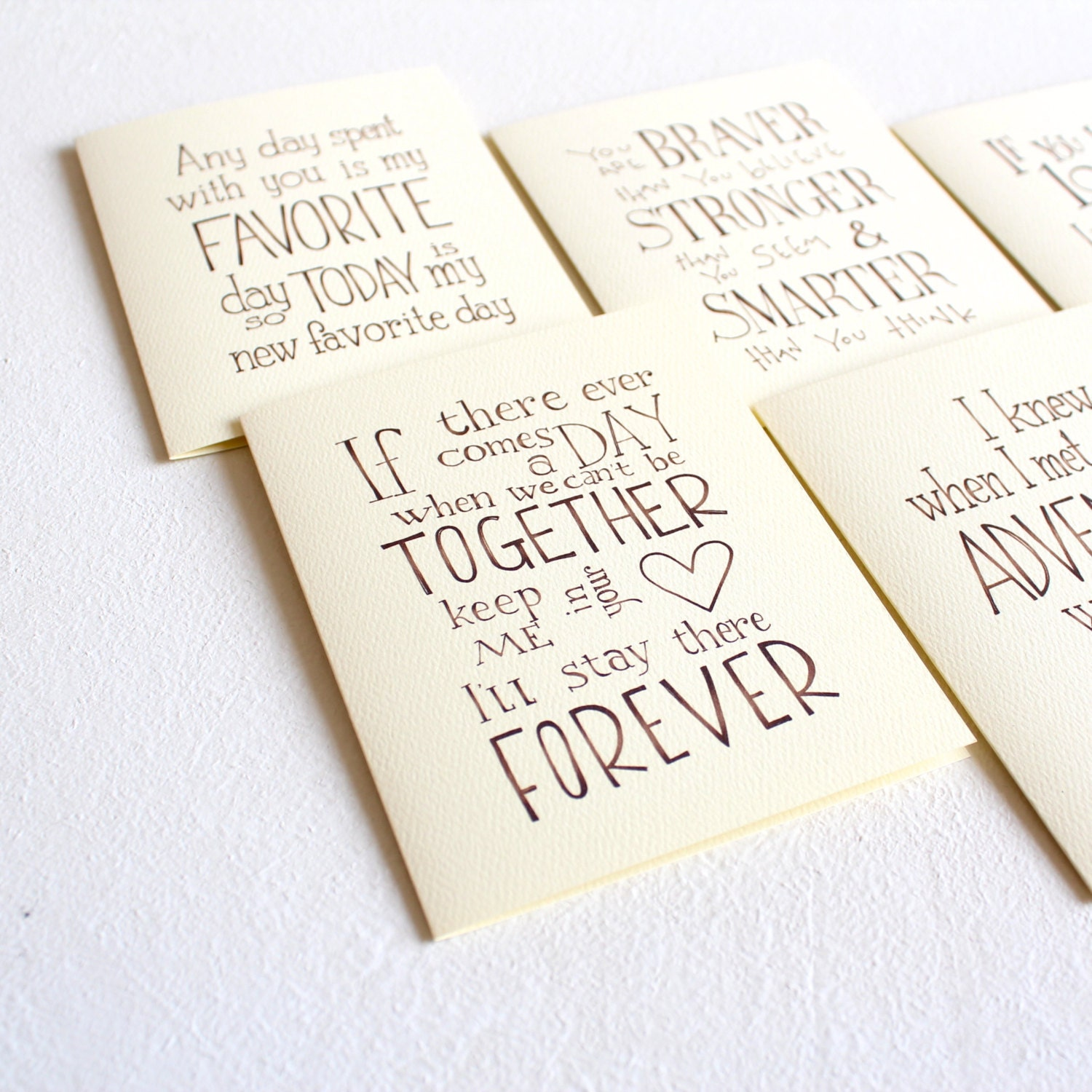 Pooh Quotes About Friendship Set Of 5 Winnie The Pooh Quote Cards Handmade Cards Set Love