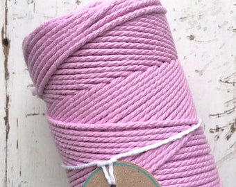 Pink Twisted Macrame Cotton Rope 1.5mm