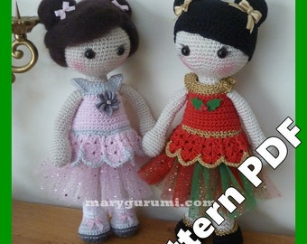 Crochet Pattern, pattern, tutorial, Amigurumi doll, Miss Betty