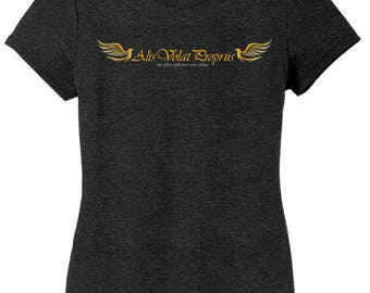 Alis Volat Propriis - She flies with her own wings t-shirt