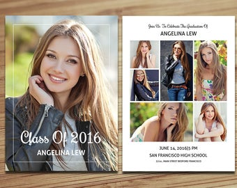 Graduation Invitation Card | Graduation Announcement Template |  Ms Word, Photoshop and Elements Template | Instant Download | G-006