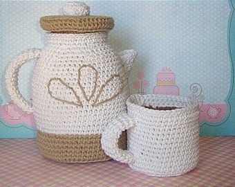 A. Jolly Coffee Pot with Cup PDF Crochet Pattern