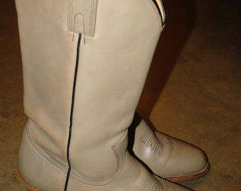 Vintage FRYE Leather Boot Cowboy WORK Boot size 9D