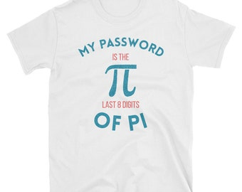 my password is the, last 8 digits of pi, pi shirt, pi, digits of pi