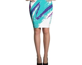 Vaporwave Aesthetic Solo Pencil Skirt