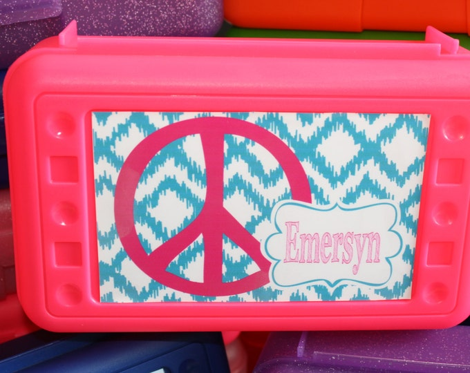 Personalized School Box- Mix and Match Patterns and Colors