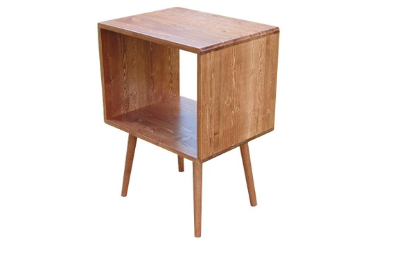 Beautiful Mid Century Record Stand Storage Table   MADE TO ORDER 90 Days