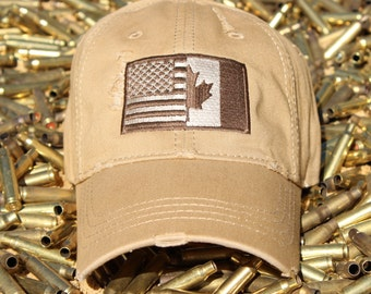 Brother-In-Arms American / Canadian Flag Hat