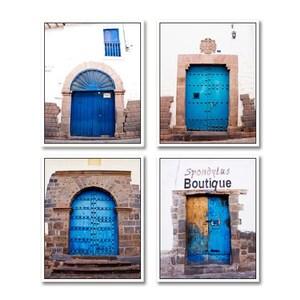 SALE Door print set Blue door photos Set of 4 prints Door photography Blue door prints  sc 1 st  Etsy & Old doors for sale | Etsy