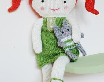 Doll Knitting Pattern Toy Rag Doll Pattern PDF - Olive & Pea