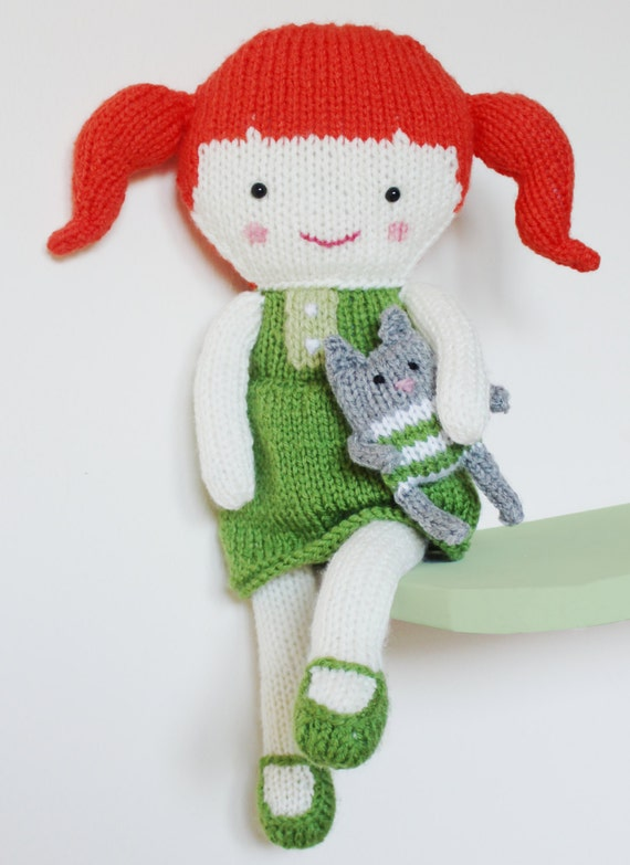 Doll Knitting Pattern Toy Rag Doll Pattern PDF - Olive & Pea from ...