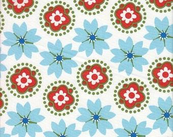 Anthology Fabrics Mod Charm Floral Stripe - Half Yard