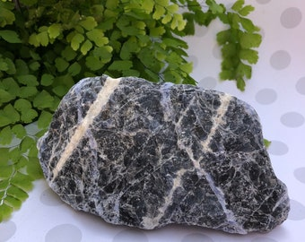 Large Blue Sodalite Crystal Rough Chunk - One of a kind colorful mineral!