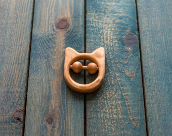 Wooden teether | Wooden rattle | Wooden toy | Baby toy | ECO FRIENDLY TOY