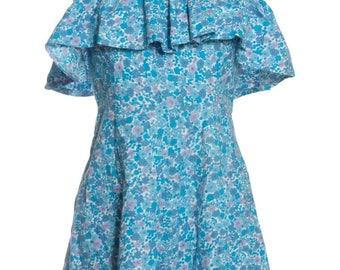 Vintage Re Worked Floral Babydoll Dress 8 - www.brickvintage.com