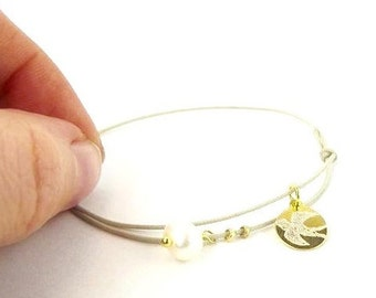 engraved bracelet gold plated 925 Silver