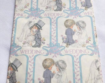Vintage | Wedding | Sarah Kay/Holly Hobbie Style | Wrapping Paper | Sheet #14