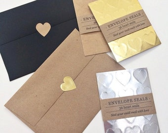 Heart Envelope Seals // Stickers