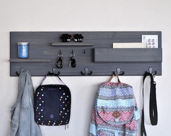 Backpack Hooks Entryway Organization Family Storage Coat Rack
