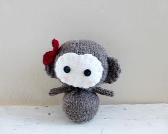 Cute stuffed animal, Monkey stuffed animal, Ready to Ship, Lulu the Monkey