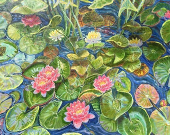 Frog and Lily Pond
