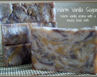 Warm Vanilla Sugar - Rustic Suds Natural - Organic Goat Milk Triple Butter Soap Bar - 5-6oz. Each