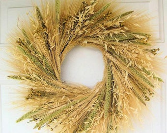 Mixed Grain Wreath | Wheat Wreath | Mixed Wheat Wreath | Autumn Wreath