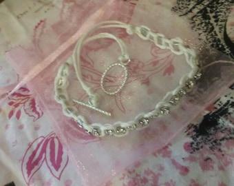 Braided Rhinestone Bracelet