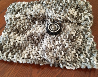 Gray Variegated Wrap Scarf