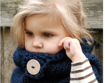 Knitting PATTERN-The Canyon Cowl (Toddler, Child, Adult sizes)