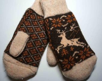 Women Mittens, Knit  Women Mittens, Wool Women Mittens, Eco Wool Mittens, Warm Wool Mittens