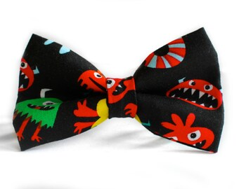 Monster Bow Tie   Bow Tie for Men   For Him   Bowtie   Self Tie   Dog Bow Tie   Mens Bow Tie   Boys Bow Tie   Toddler Bow Tie   Baby Bow Tie