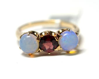 14k Hope and Love Opal RIng
